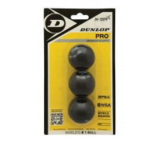 Skvošo kamuoliukai PRO 2 yellow dots 3-blist