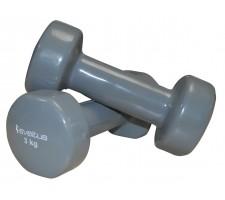 Dumbbells SVELTUS Epoxy 1183 2x3 kg Grey