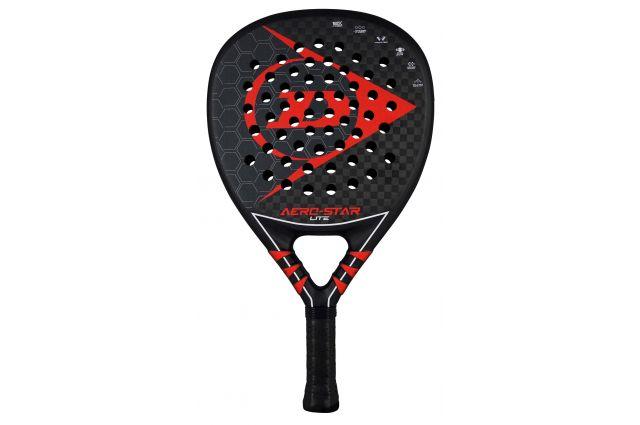 Padel tennis racket Dunlop AERO-STAR LITE 350g professional 12K-Carbon Hybrid UltraSoft, Padel tennis racket Dunlop AERO-STAR LITE 350g professional 12K-Carbon Hybrid UltraSoft