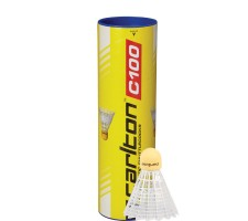 Badminton shuttlecocks Carlton C100 synthetic, medium speed, 3 pcs