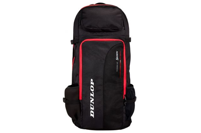 Kuprinė Dunlop CX-PERFORMANCE LONG BACKPACK, Juoda/raudona, Kuprinė Dunlop CX-PERFORMANCE LONG BACKPACK