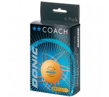Table tennis ball DONIC P40+ Coach 2 star  6 pcs Orange