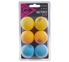 Table tennis balls Dunlop NITRO GLOW 6pcs