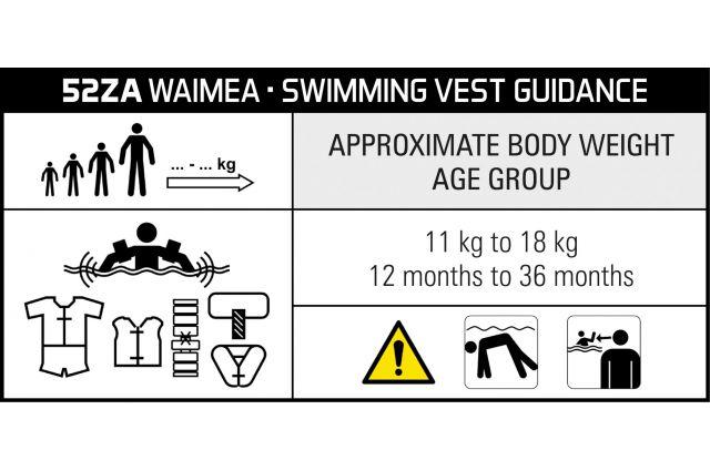 Plaukimo liemenė vaikams WAIMEA 52 ORA