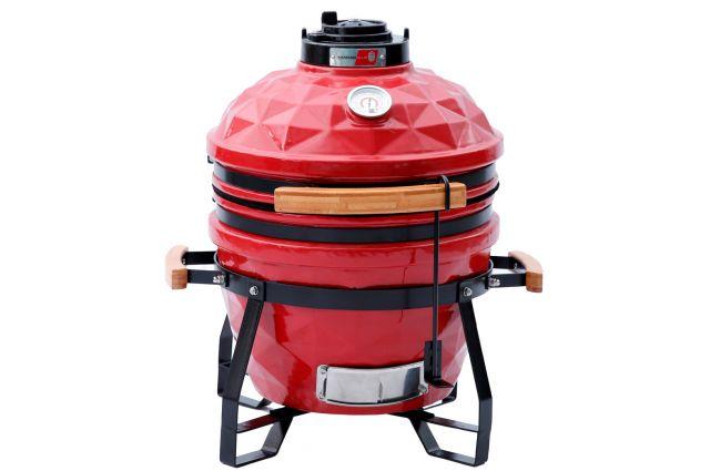 Kepsninė KAMADO Club Junior D41cm, raudona, Kepsninė KAMADO Club Junior D41cm, raudona