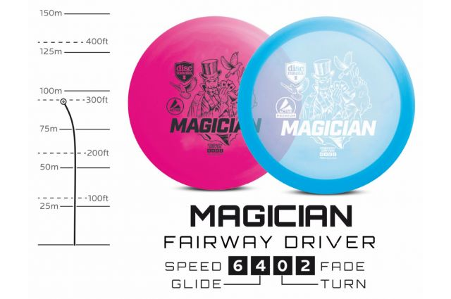 Diskgolfo diskas DISCMANIA Fairway Driver MAGICIAN