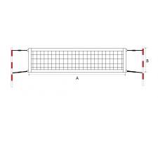 Beach tennis net ECONOM 9,5x1m PA 40x40x2mm 4psc tension ropes
