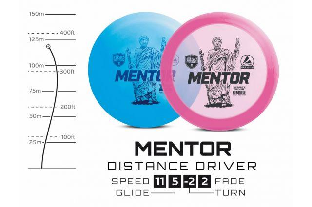 Diskgolfo diskas DISCMANIA Distance Driver MENTOR