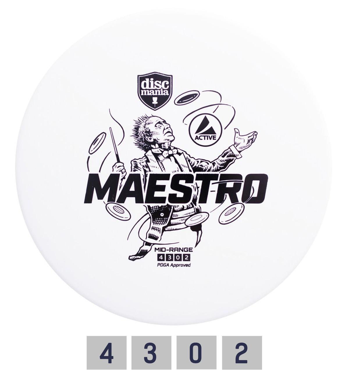 Diskgolfo diskas DISCMANIA Midrange Driver MAESTRO